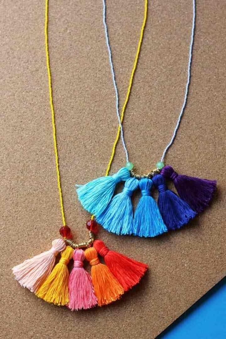 DIY Tassel Necklace, diy birthday gifts for tween girl, diy gifts, diy gifts for girlfriend, diy birthday gift ideas for teenage girl, creative homemade gifts, handmade birthday gifts, handmade gift ideas for friends, crafty gifts for girls, beautiful diy gifts, easy diy gifts for friends, diy gift ideas for best friend, quick diy gifts, diy gift ideas for boyfriend, diy gift ideas for girlfriend, diy gifts for men, classy diy gifts, diytomake.com