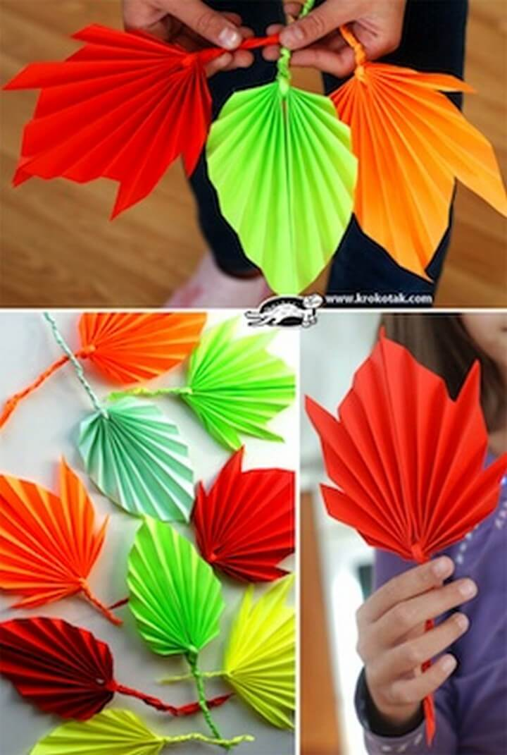 Folded Paper Fall Leaves Things to Make and Do, diy crafts with paper, diy crafts tutorials, diy crafts for girls, easy diy crafts, diy crafts youtube, diy crafts for kids, diy crafts for home decor, diy crafts to sell, diy projects for home, easy diy projects for home, diy projects for men, diy projects for bedroom, fun diy projects for adults, diy projects for kids, diy projects youtube, diy projects electronics, diytomake.com