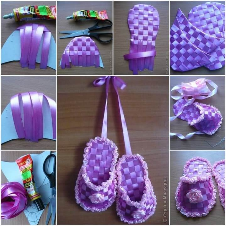 How to make Gift Ribbon Slippers step by step
