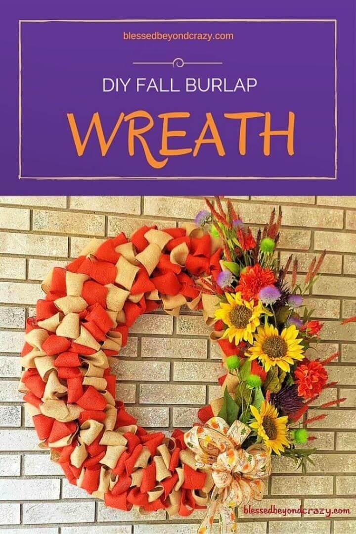 Beautiful DIY Fall Burlap Wreath