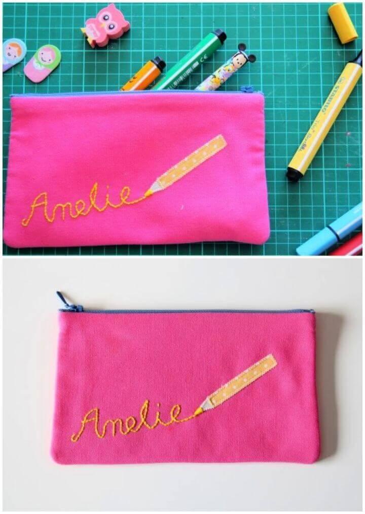 DIY Back to School Pencil Case