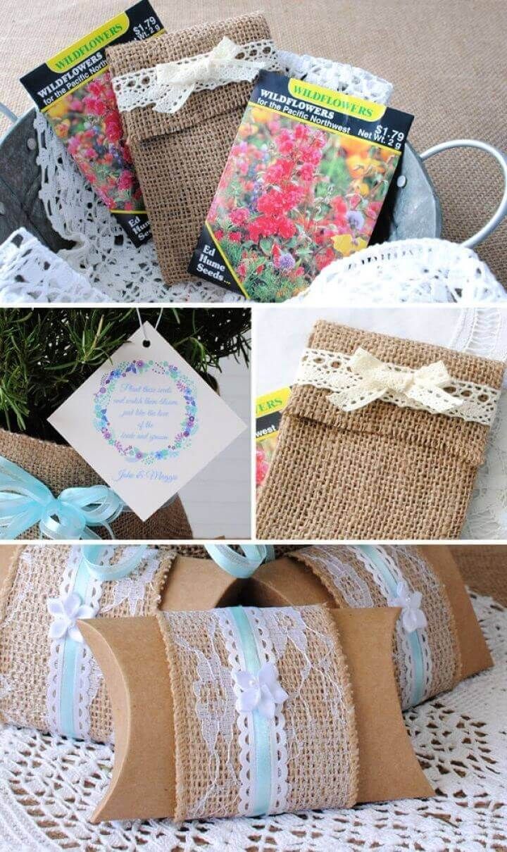 DIY Burlap And Lace Party Favors