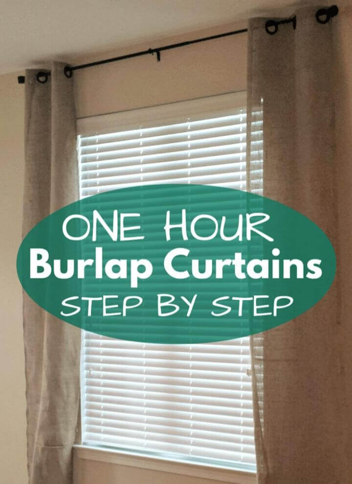 Easy DIY Burlap Curtains Tutorial
