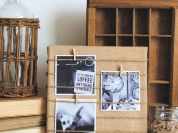 Easy DIY Burlap Memo Board