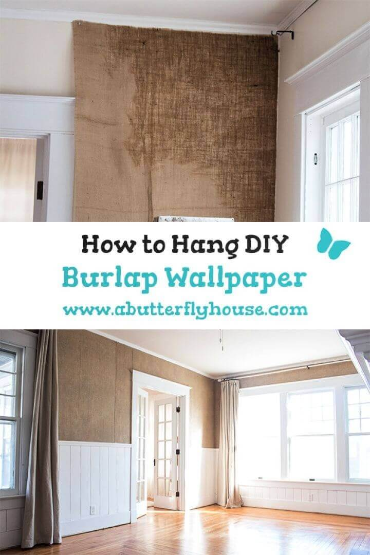 How to Hang DIY Burlap Wallpaper