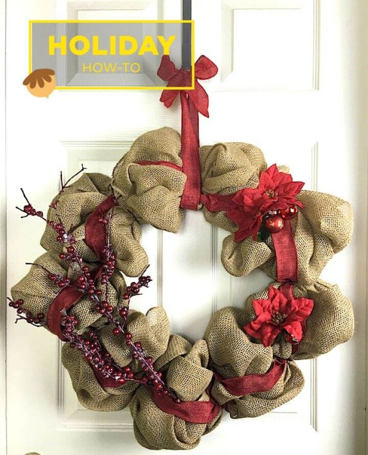 How to Make a DIY Burlap Wreath