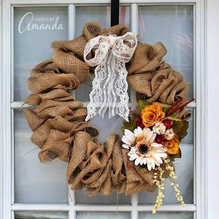 Make A DIY Burlap Wreath
