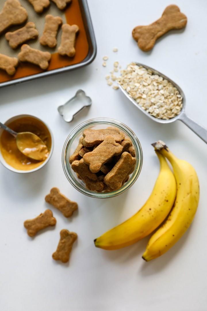 3 Ingredient Peanut Butter Banana Dog Treats
