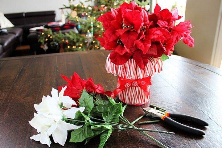 DIY Amazing Candy Cane Vase