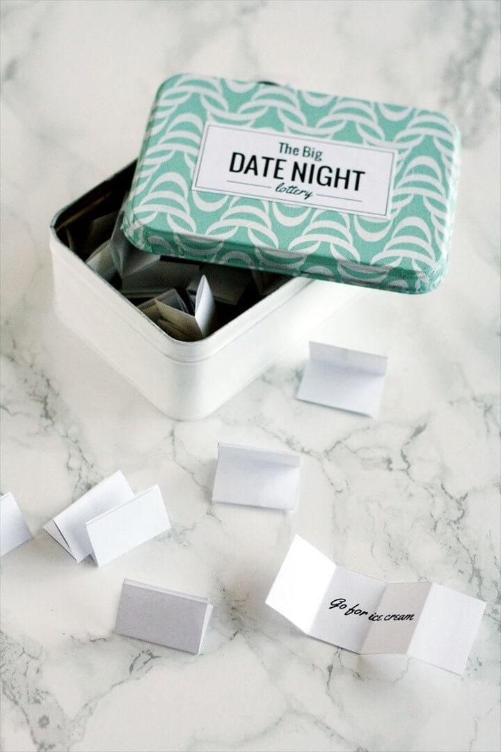 DIY Date Night Lottery Tin
