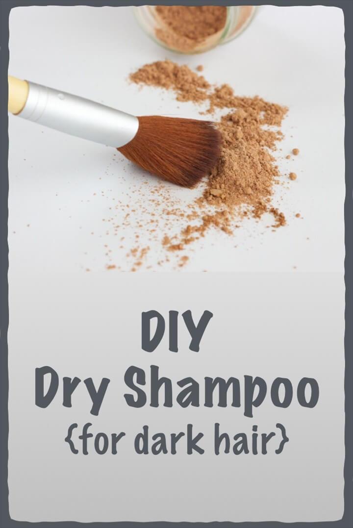 DIY Dry Shampoo For Dark Hair
