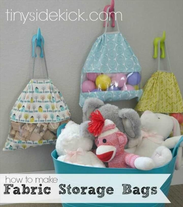 DIY Fabric Storage Bags