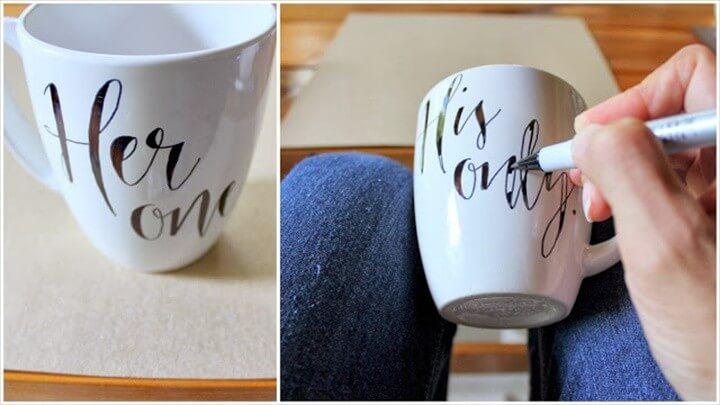 DIY His Her Mugs