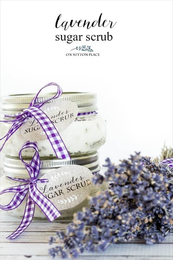 DIY Lavender Sugar Scrub Recipe
