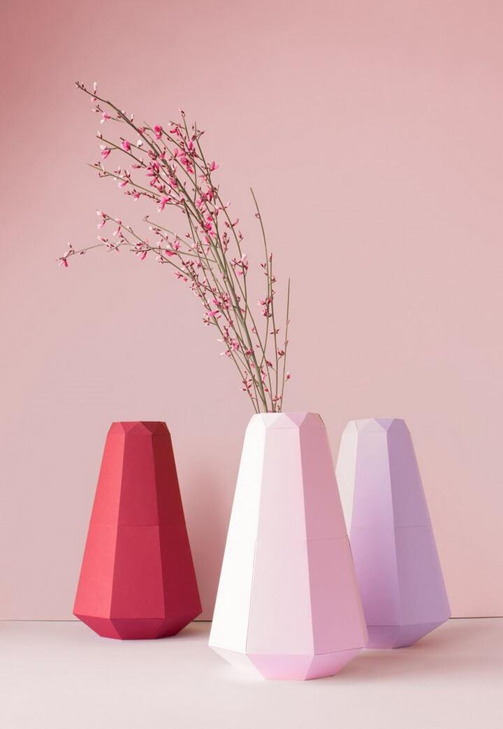 DIY Paper Flower Vases