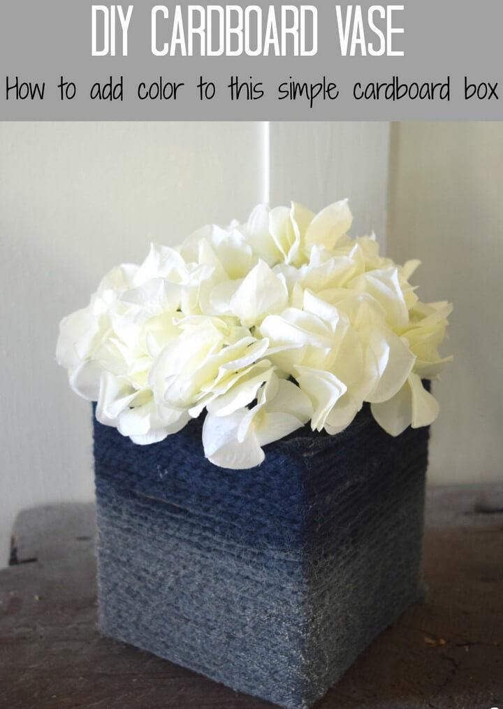 DIY Rope Wrapped Vase Idea