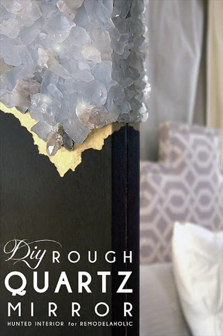 DIY Rough Quartz Mirror Frame Tutorial