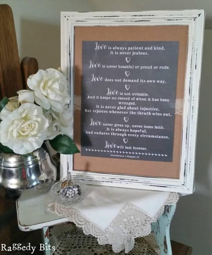 DIY Wedding Anniversary Gift Idea