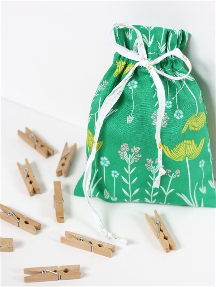 Easy Drawstring Bag Tutorial