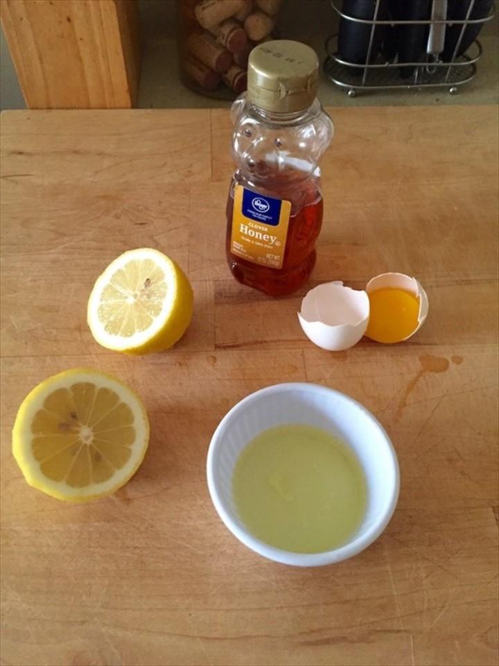 Egg White Lemon Juice Honey Facial Mask for Acne Scars