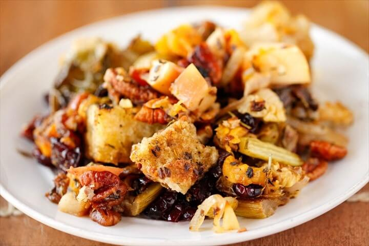 Holiday Stuffing with Butternut Squash Brussels Sprouts and Apples