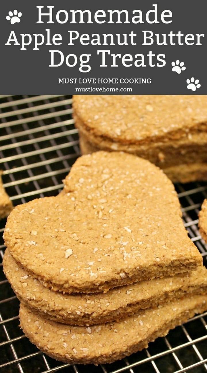 Homemade Apple Peanut Butter Dog Treats