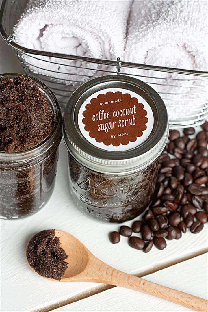 Homemade Coffee Coconut Sugar Scrub