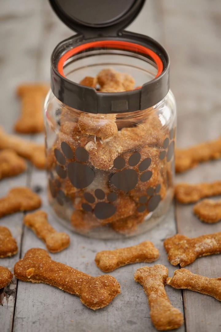 Homemade Dog Biscuits Pumpkin Peanut Butter 1