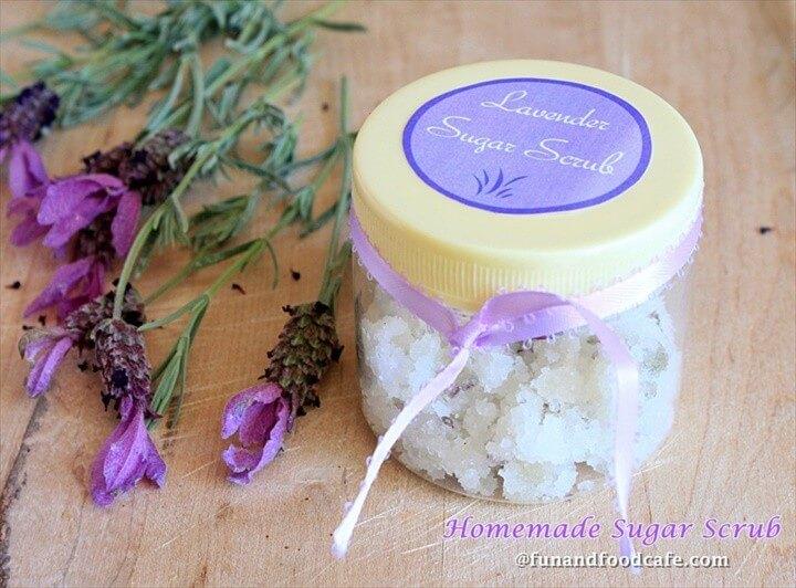Homemade Lavender Jasmine Sugar Scrub