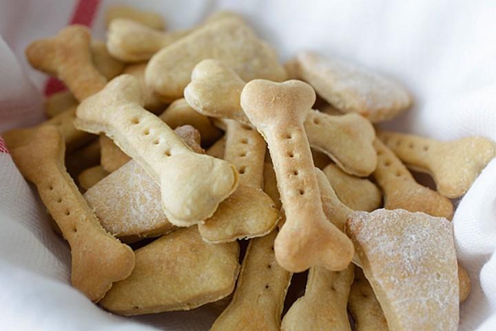 Homemade Peanut Butter Oat Dog Treats