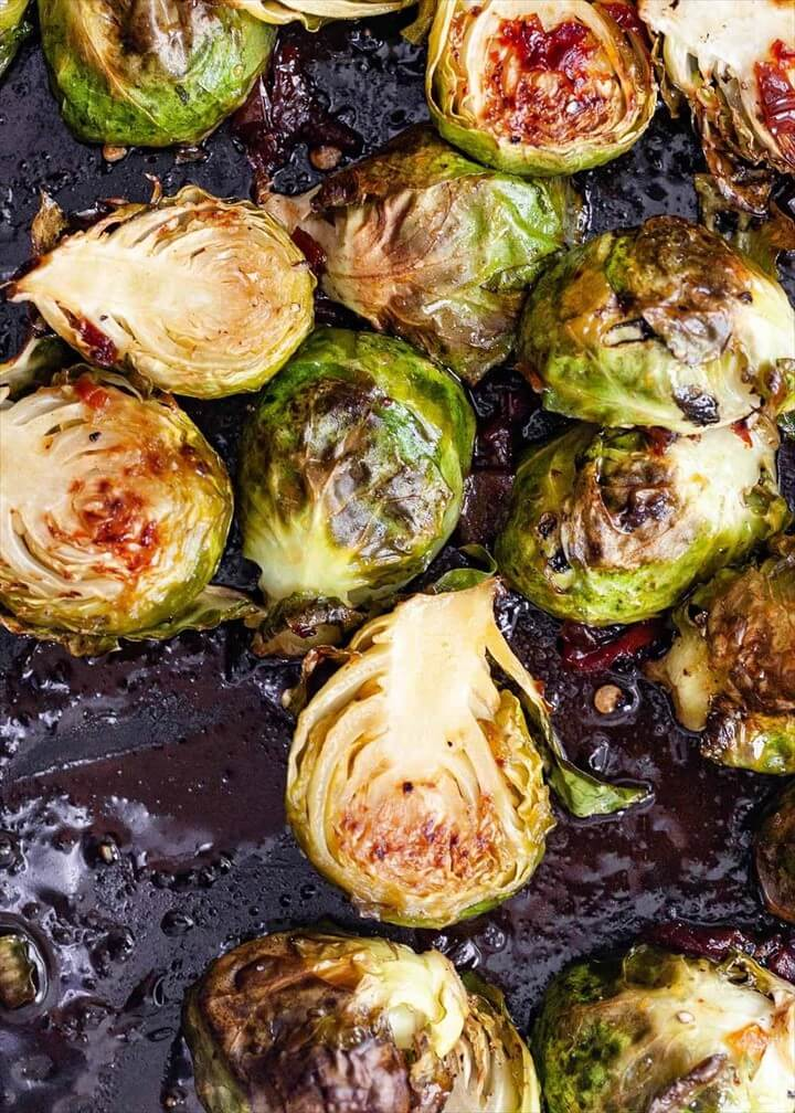 Honey Chipotle Roasted Brussels Sprouts