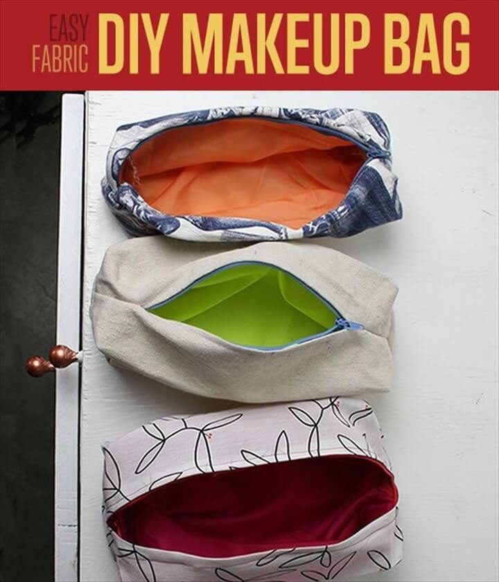 How To Sew Cute Makeup Bags