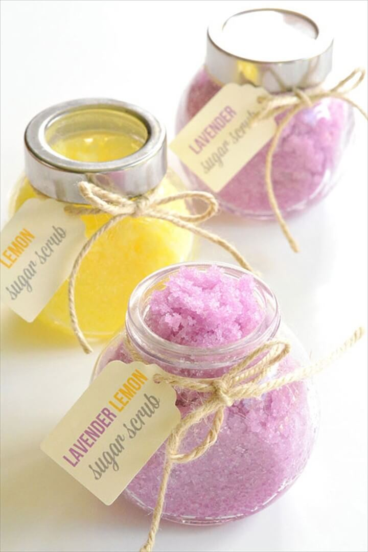 Lemon and Lavender Lemon Sugar Scrub