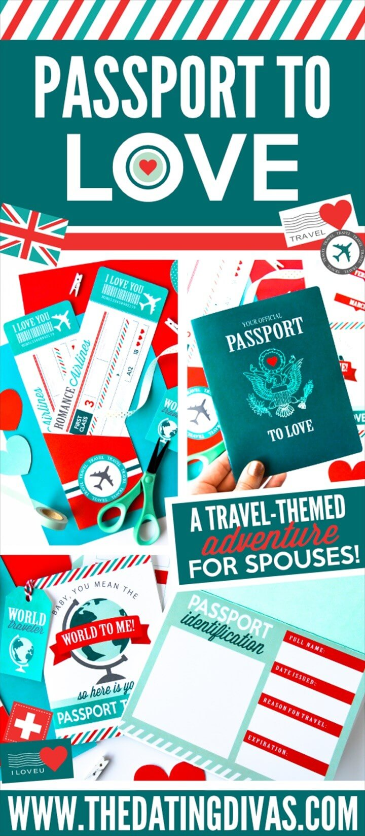 Passport To Love And Travel Scrapbook Ideas