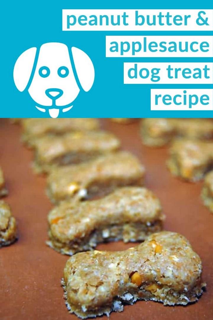 Peanut Butter Applesauce Dog Treats