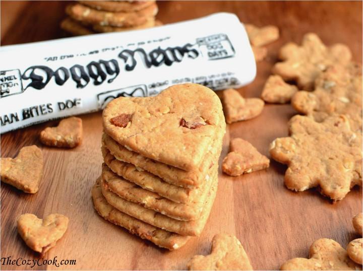 Peanut Butter Bacon Dog Treats 1