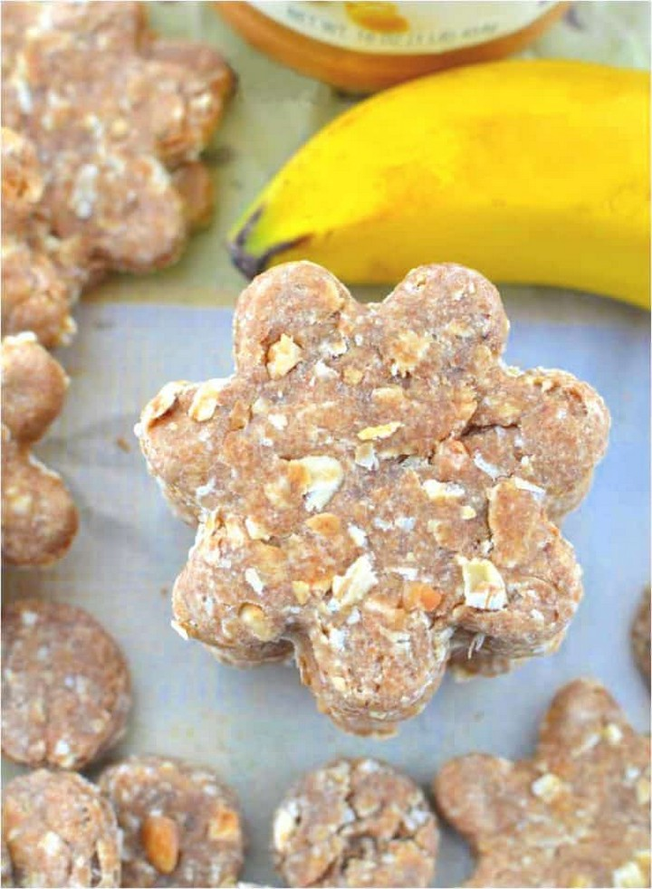 Peanut Butter Banana Dog Treats DIY