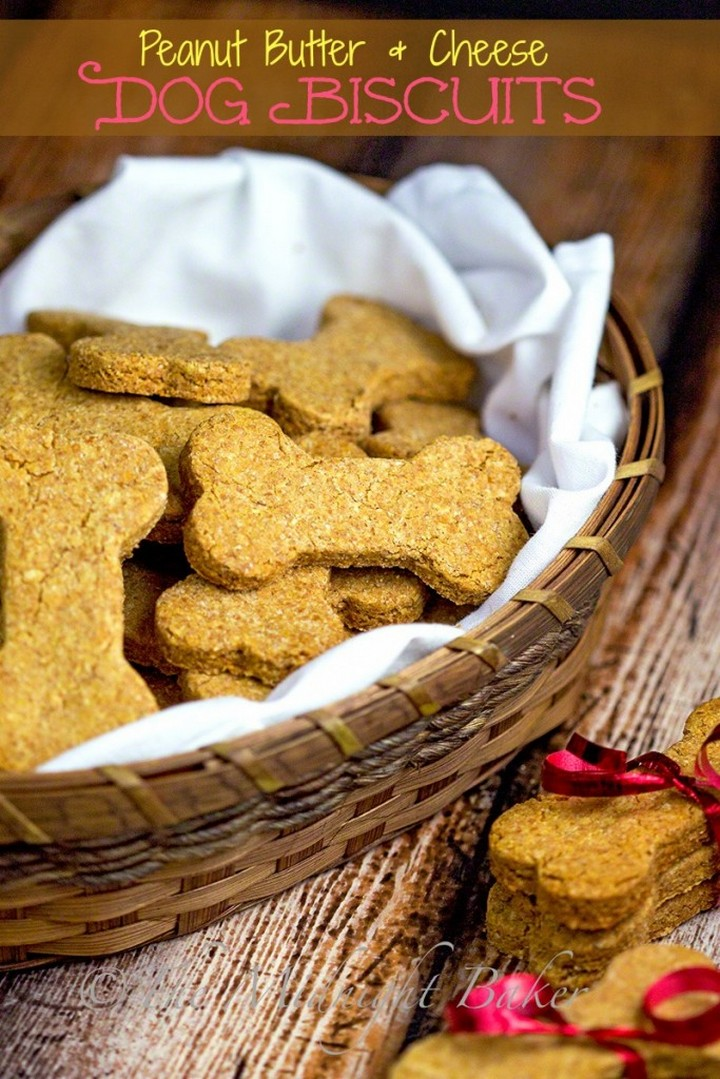 Peanut Butter Cheese Dog Biscuits