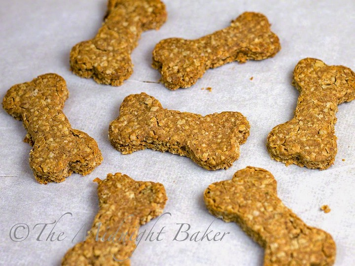 Peanut Butter and Bacon Dog Biscuits