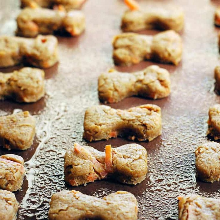 Peanut Butter and Carrot Dog Treats