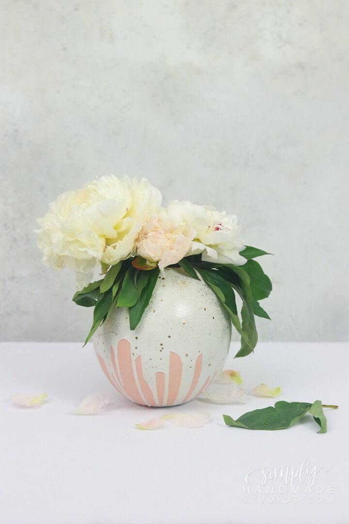 Plaster Flower Vase DIY