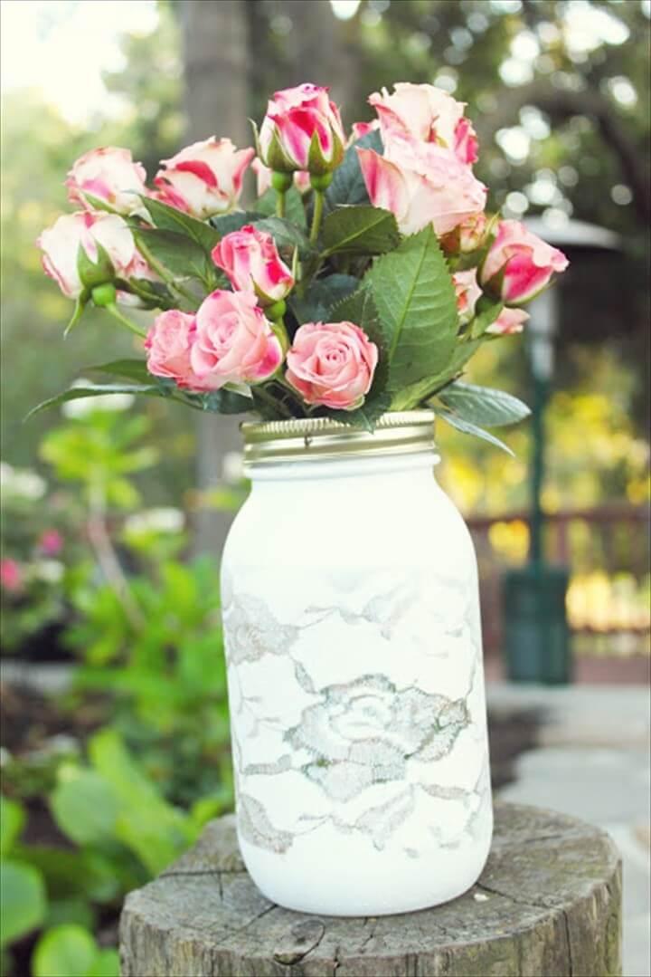 Pretty Lace Vase
