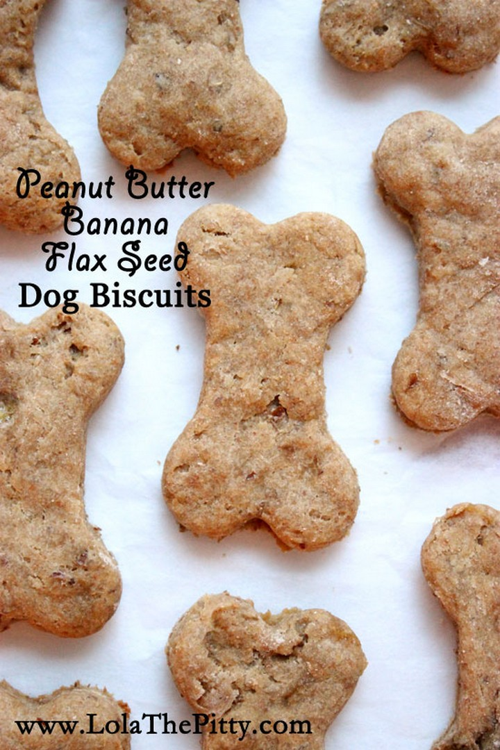 Small batch Peanut Butter Banana Flax Seed Dog Biscuits
