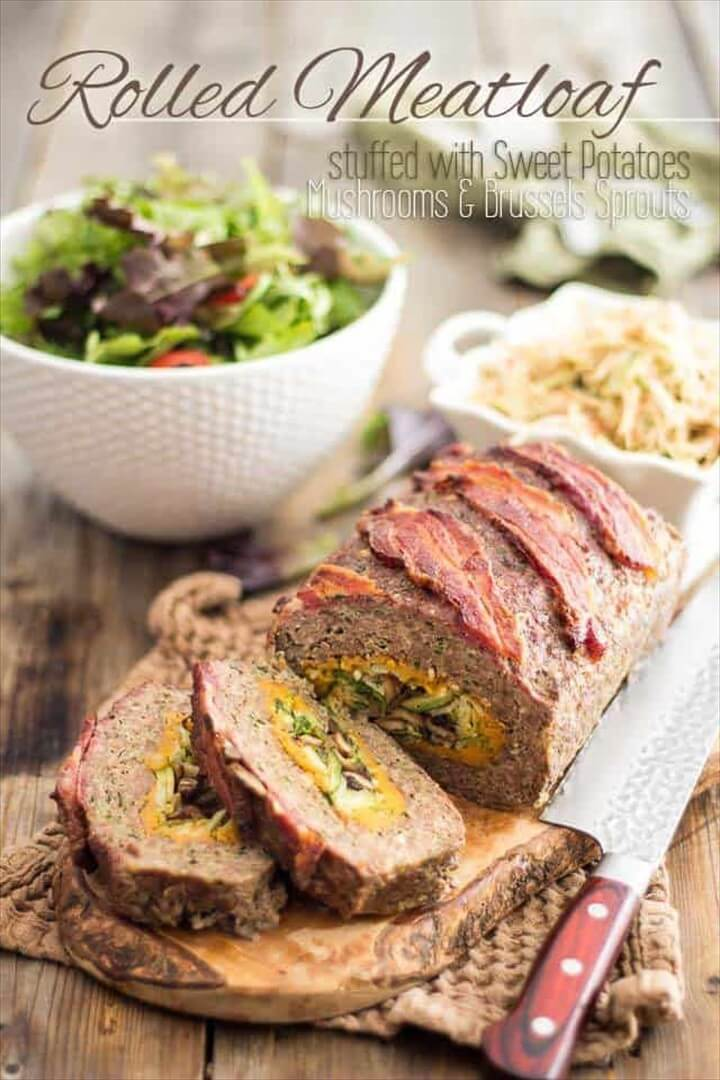 Stuffed With Sweet Potatoes Mushrooms And Brussels Sprouts
