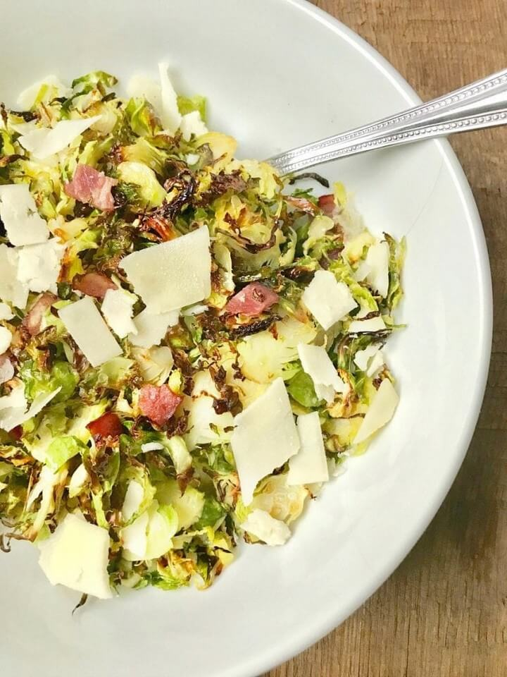 21 Day Fix Crispy Shaved Brussels Sprouts with Bacon
