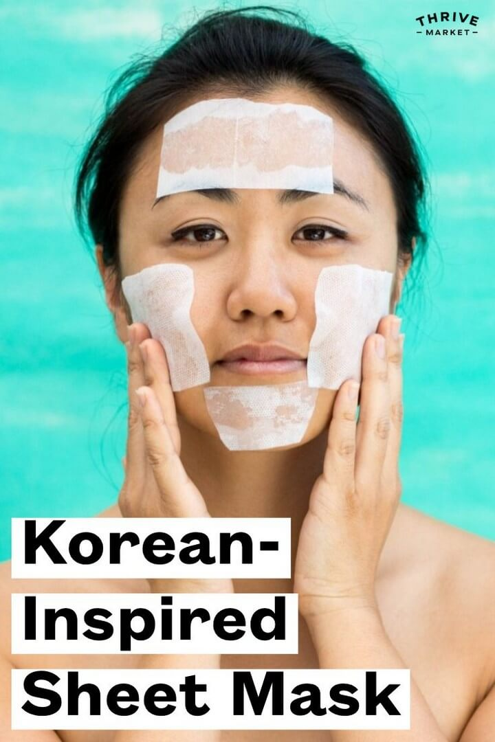 A 3 Ingredient Korean Inspired DIY Sheet Mask to Tighten and Brighten Skin