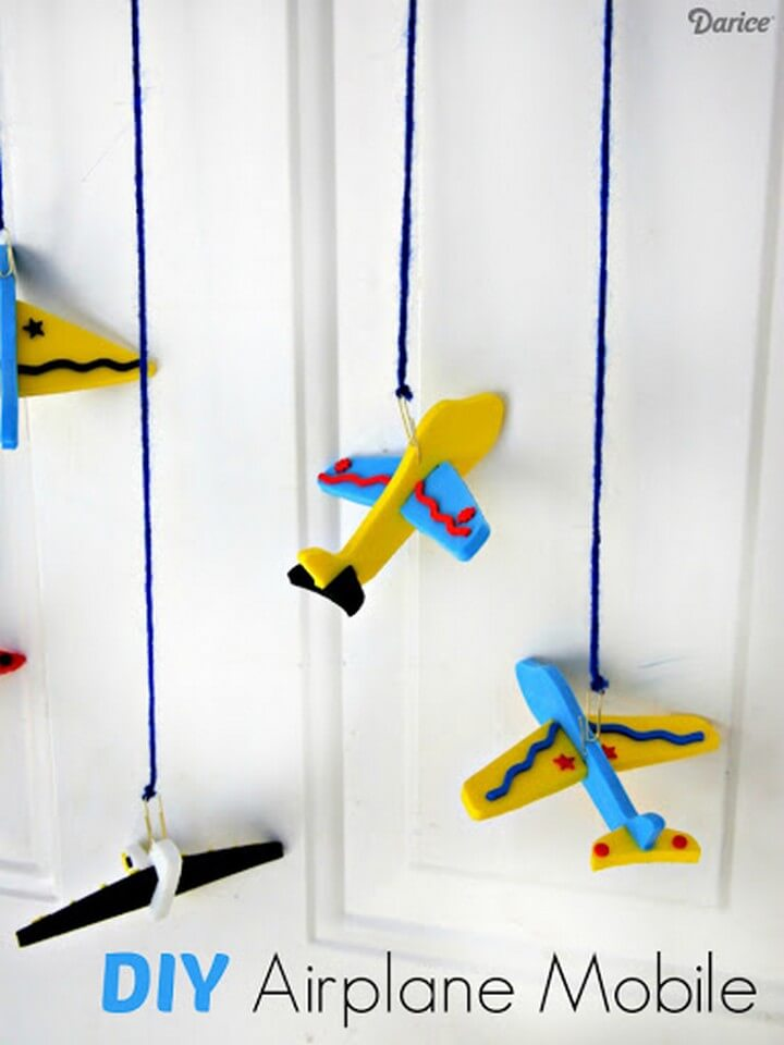 Airplane DIY Craft Mobile for Kids DIY