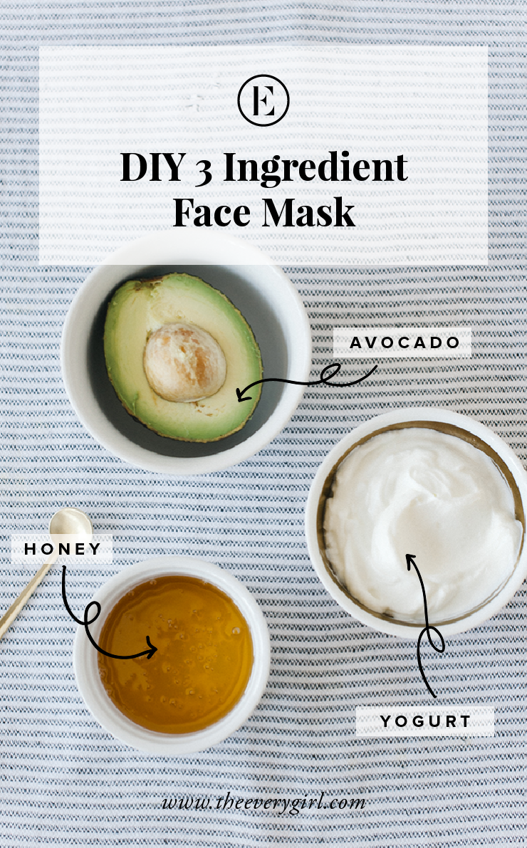 At Home Avocado Honey Yogurt Face Mask