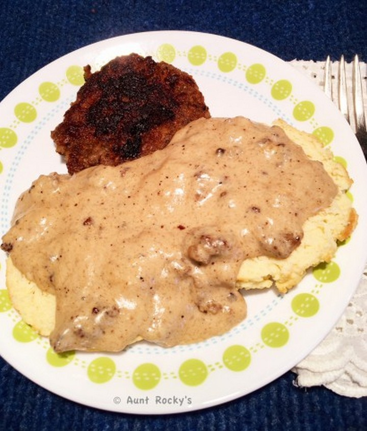 Aunt Rocky's Sausage Gravy Gluten Free Low Carb Keto