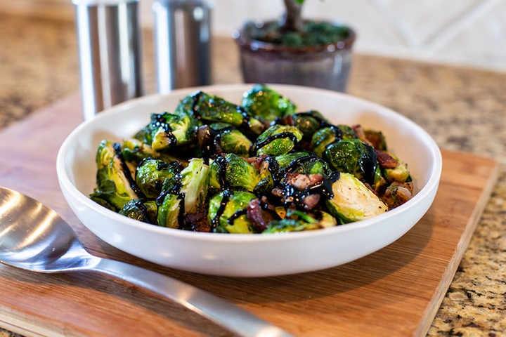 Bacon Balsamic Brussel Sprouts